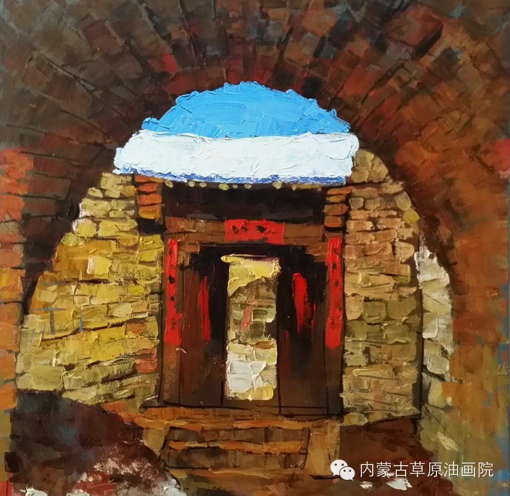 内蒙古草原油画院画家--吉尔格楞 第22张