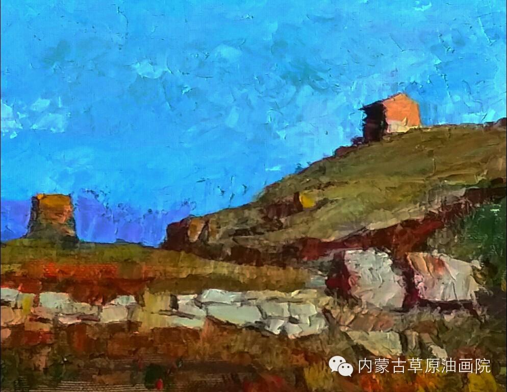 内蒙古草原油画院画家--吉尔格楞 第23张