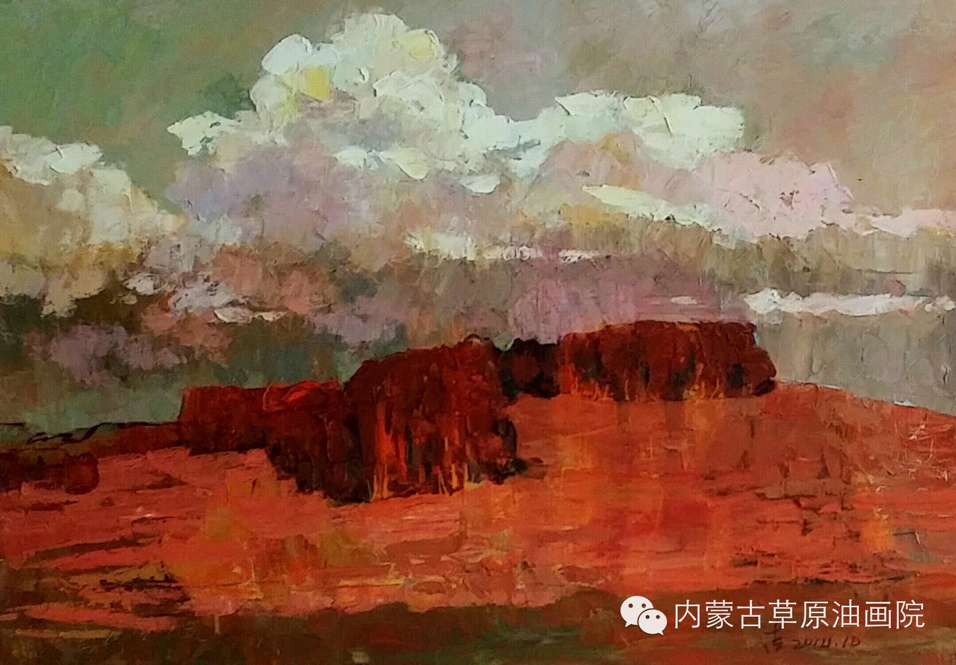 内蒙古草原油画院画家--吉尔格楞 第24张