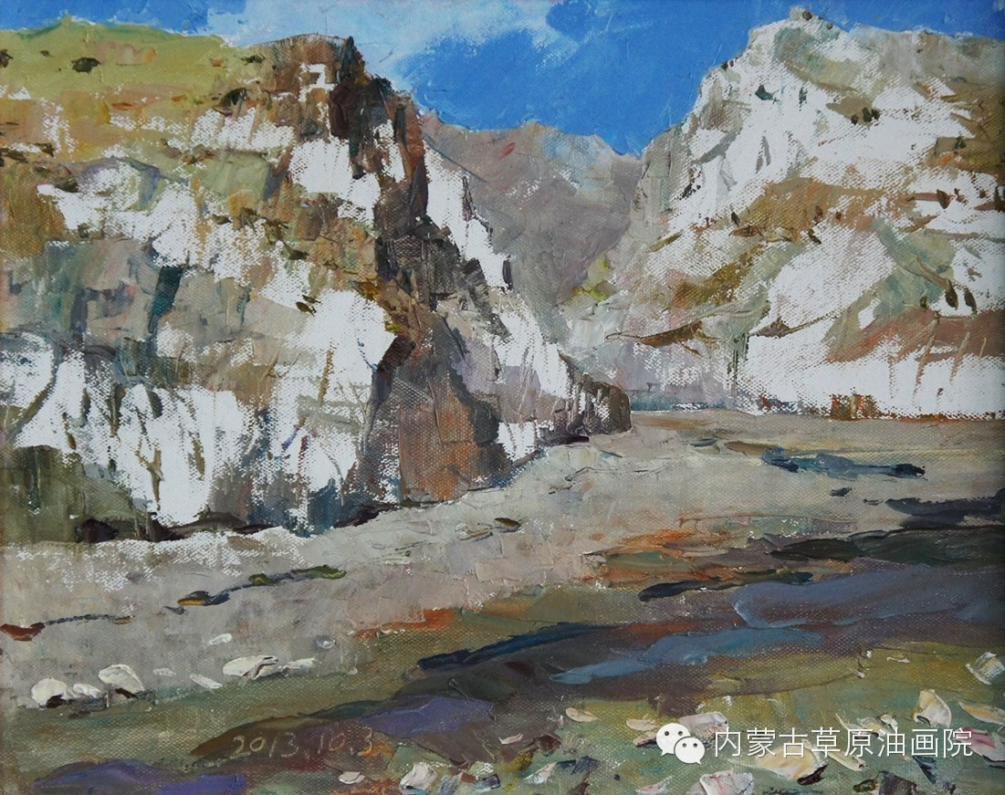 内蒙古草原油画院画家--吉尔格楞 第27张