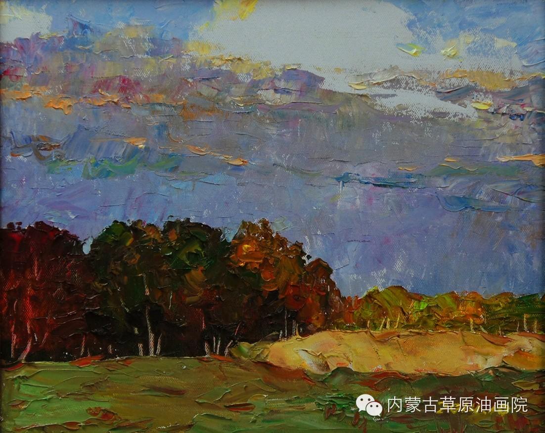 内蒙古草原油画院画家--吉尔格楞 第26张