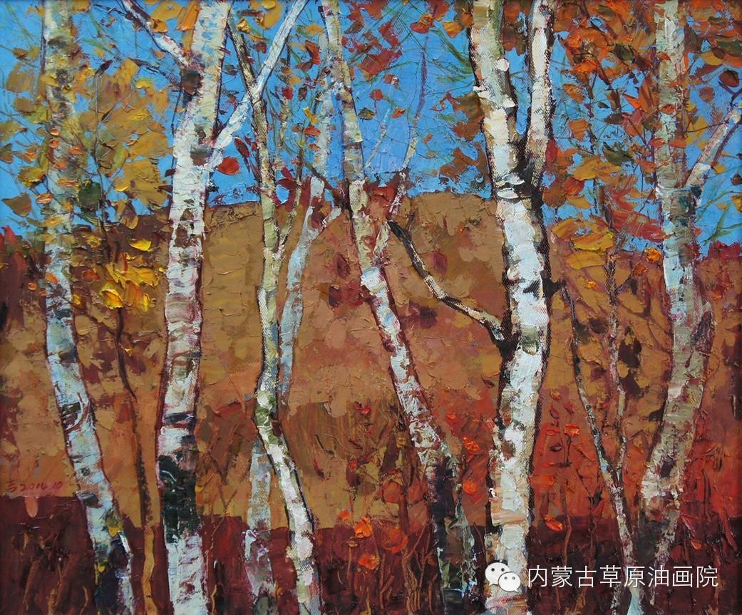 内蒙古草原油画院画家--吉尔格楞 第28张