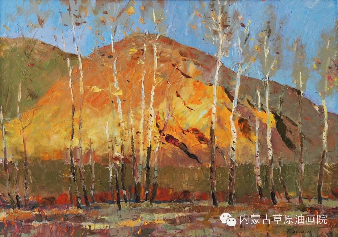 内蒙古草原油画院画家--吉尔格楞 第29张