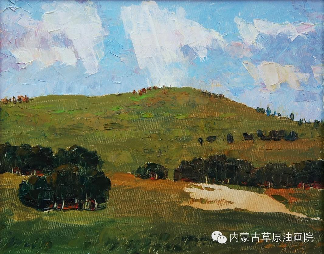 内蒙古草原油画院画家--吉尔格楞 第30张