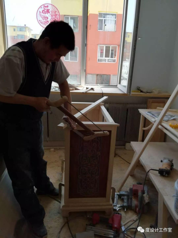 从图纸到实物,我们一起走过 彩绘蒙古族风格立柜的制作过程展示 第26张