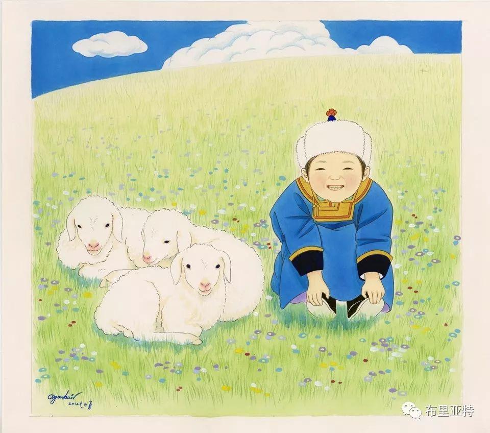 旅日草原画家Oogonbair作品欣赏,太喜欢了 第14张