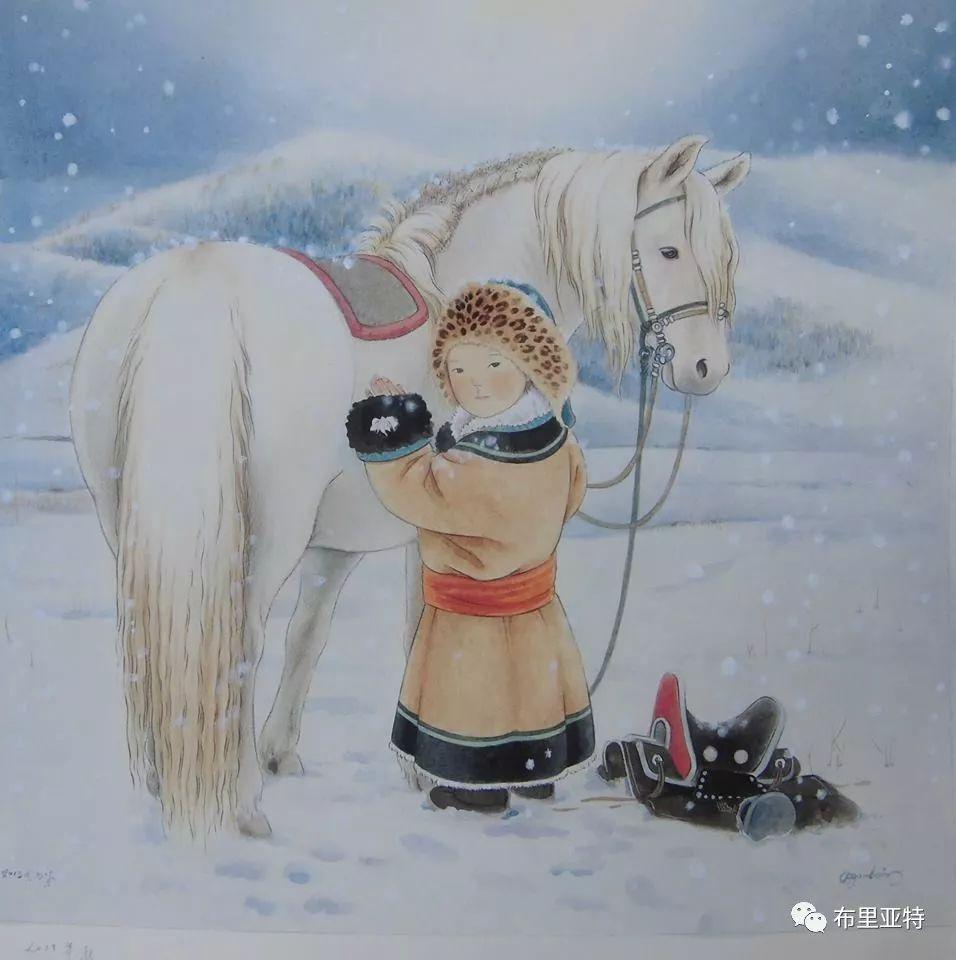 旅日草原画家Oogonbair作品欣赏,太喜欢了 第18张