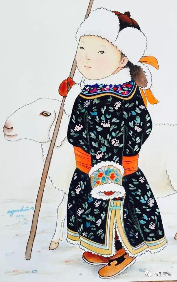 旅日草原画家Oogonbair作品欣赏,太喜欢了 第21张