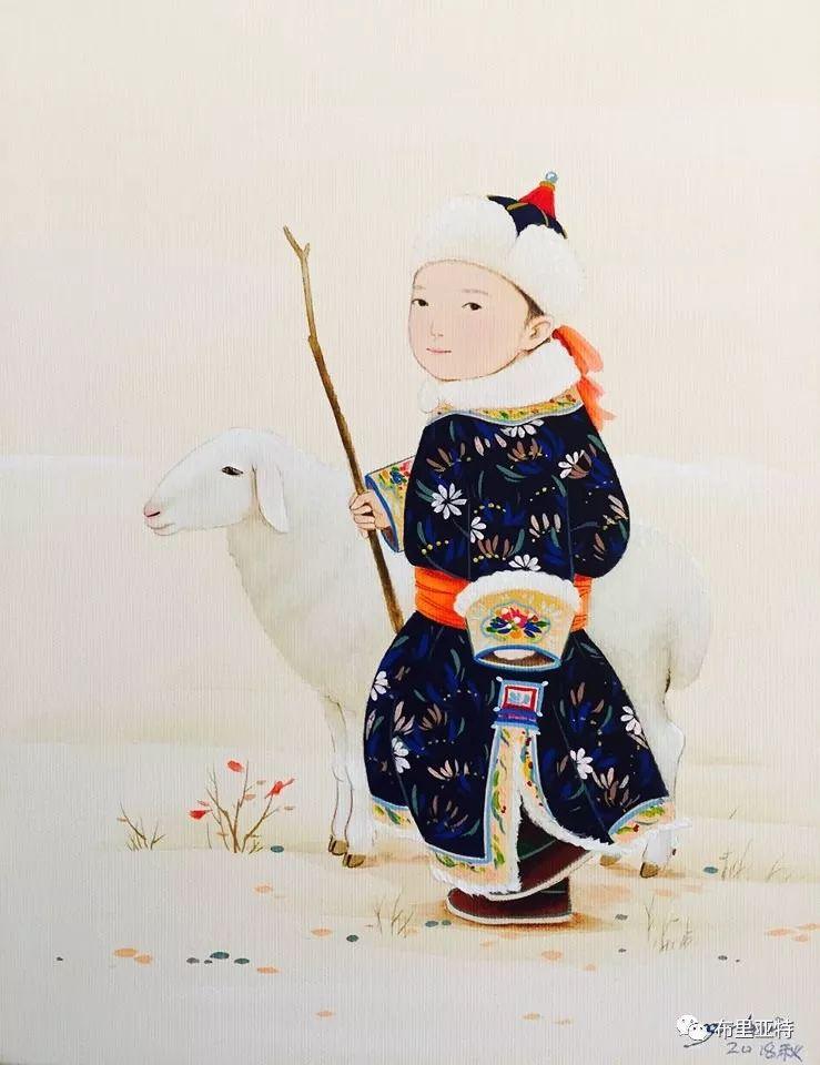 旅日草原画家Oogonbair作品欣赏,太喜欢了 第20张