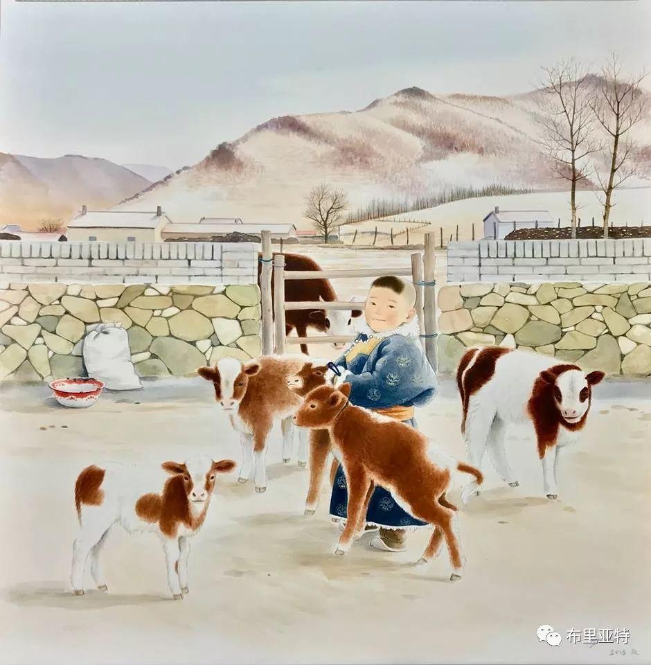 旅日草原画家Oogonbair作品欣赏,太喜欢了 第22张