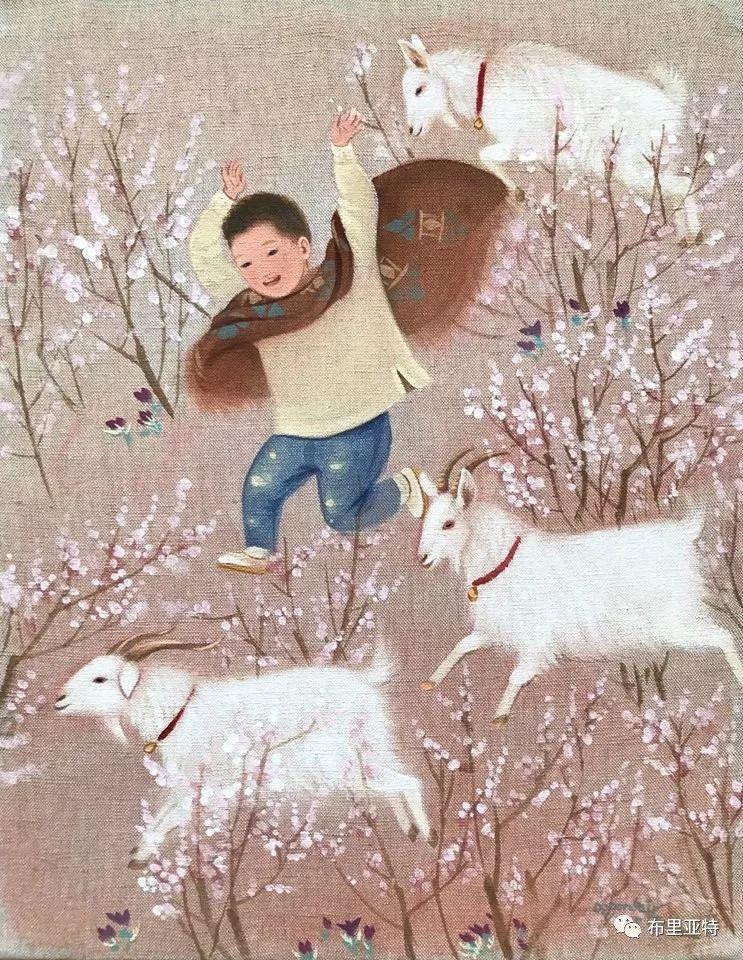 旅日草原画家Oogonbair作品欣赏,太喜欢了 第32张