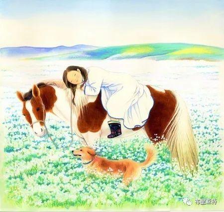 旅日草原画家Oogonbair作品欣赏,太喜欢了 第33张