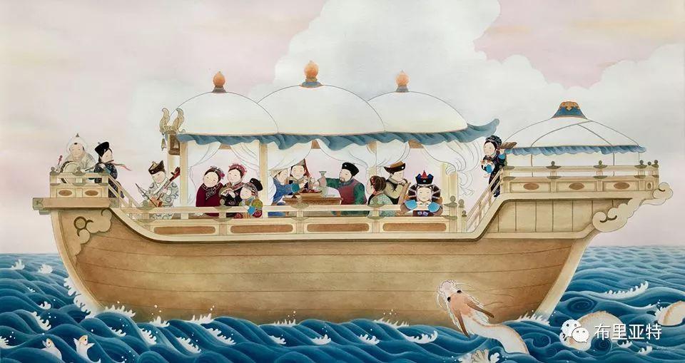 旅日草原画家Oogonbair作品欣赏,太喜欢了 第37张