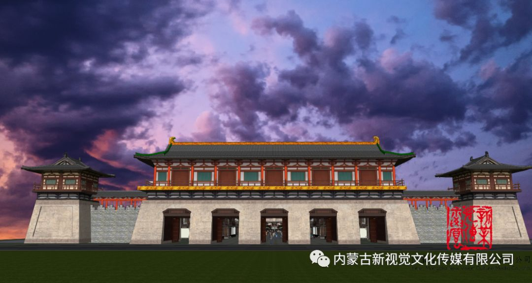 内蒙古辽上京契丹辽文化主题商业步行街设计效果 第1张