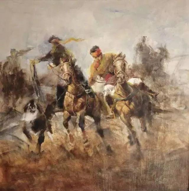 【绘画】画家包布和笔下的蒙古马,简直栩栩如生 第3张