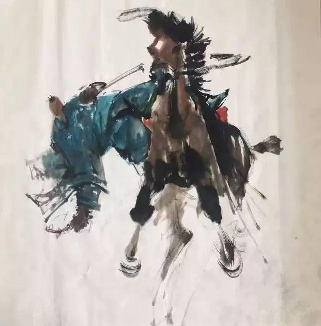 【绘画】画家包布和笔下的蒙古马,简直栩栩如生 第1张