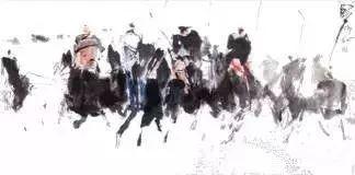 【绘画】画家包布和笔下的蒙古马,简直栩栩如生 第6张