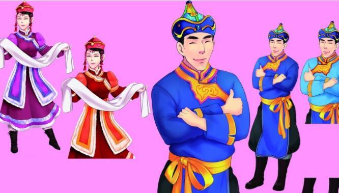 蒙古人矢量图片 第1张