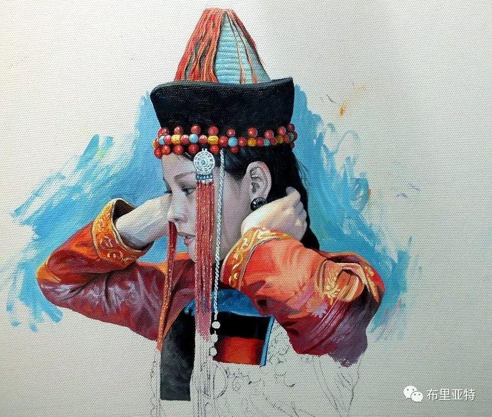 蒙古国90后自由画家甘·巴雅尔作品欣赏,浓浓的天鹅神话风 第9张