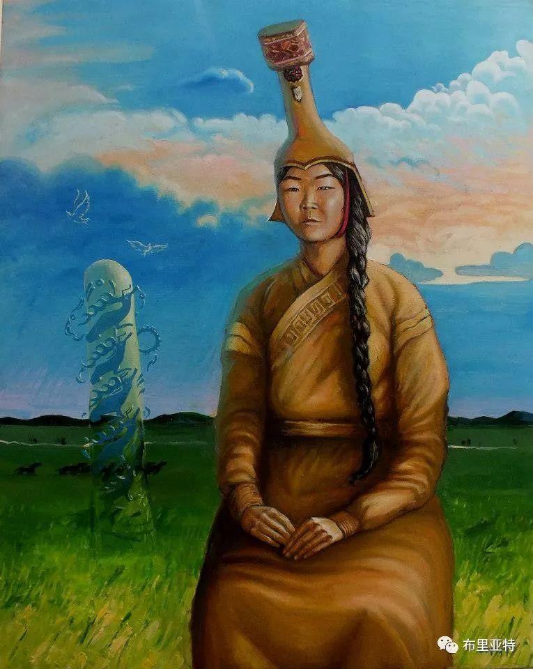蒙古国90后自由画家甘·巴雅尔作品欣赏,浓浓的天鹅神话风 第15张