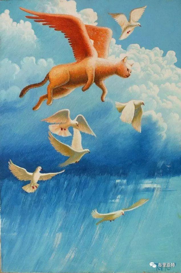 蒙古国90后自由画家甘·巴雅尔作品欣赏,浓浓的天鹅神话风 第22张
