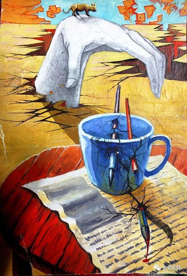 蒙古国90后自由画家甘·巴雅尔作品欣赏,浓浓的天鹅神话风 第21张