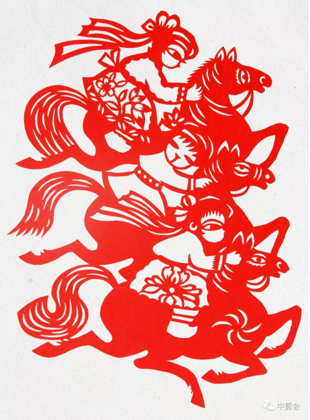 游唱游剪——记荣凤敏与她剪纸艺术中的草原风韵 第15张
