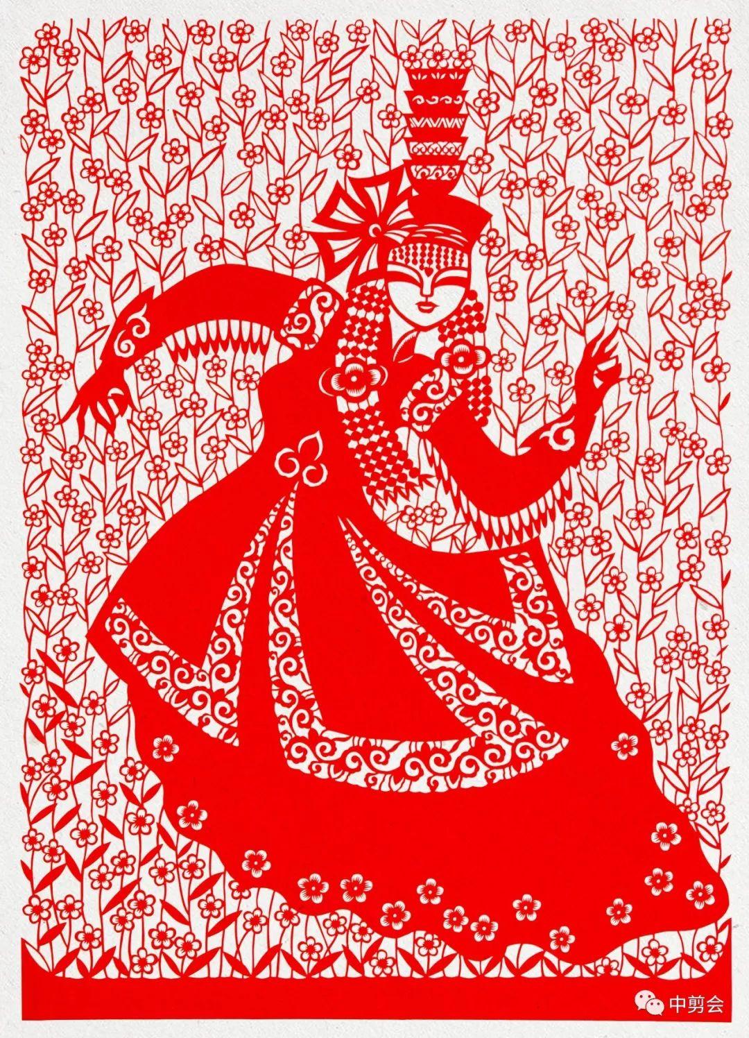 游唱游剪——记荣凤敏与她剪纸艺术中的草原风韵 第37张