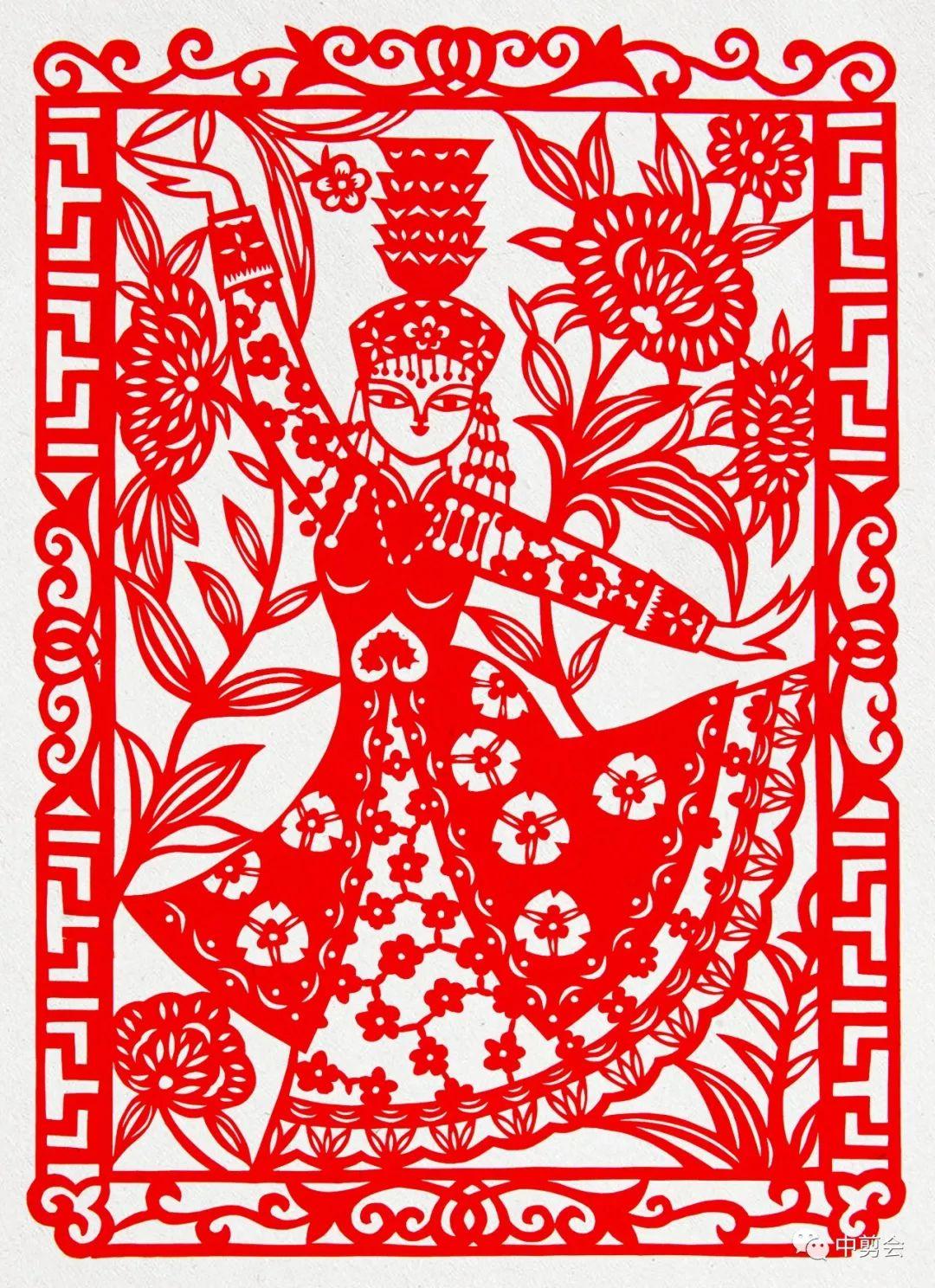 游唱游剪——记荣凤敏与她剪纸艺术中的草原风韵 第40张