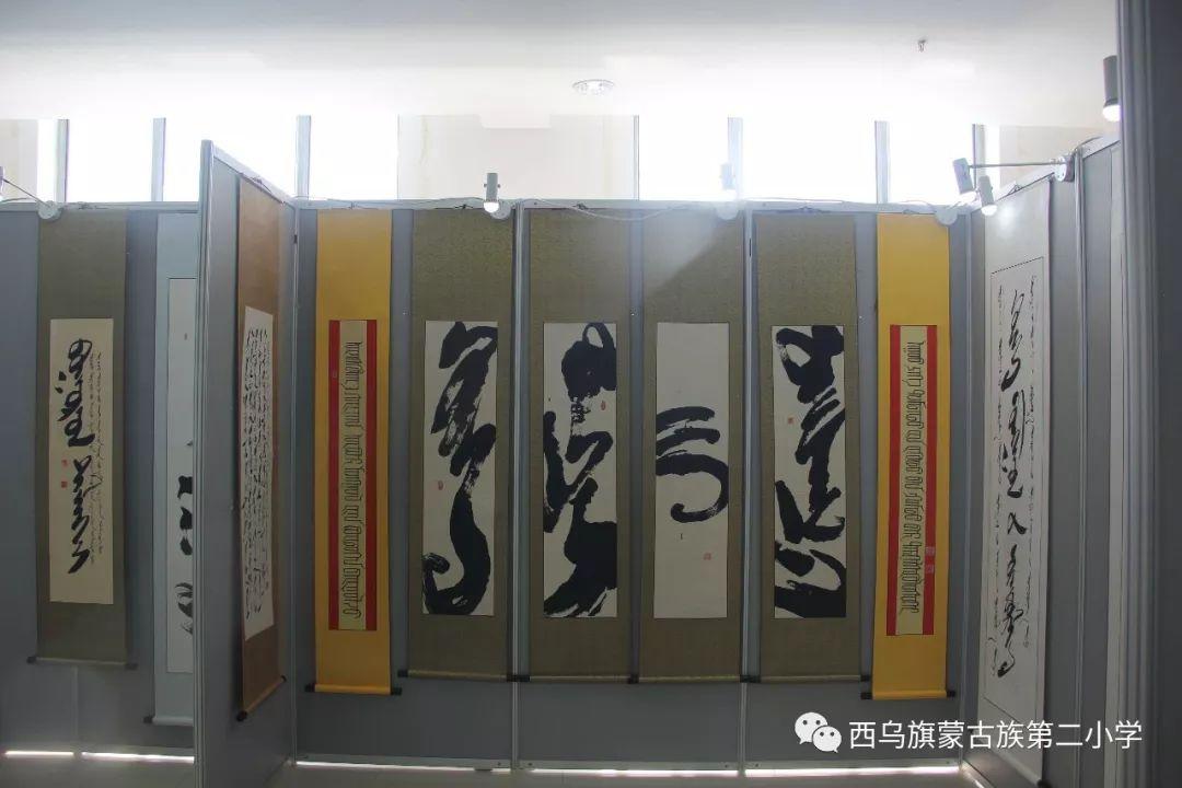 【乌珠穆沁】— 宝音陶格陶个人蒙古文书法展圆满结束 第23张