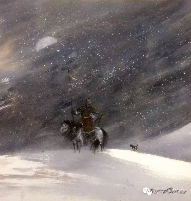 【美图】青年画家巴达日呼水彩作品欣赏 第3张