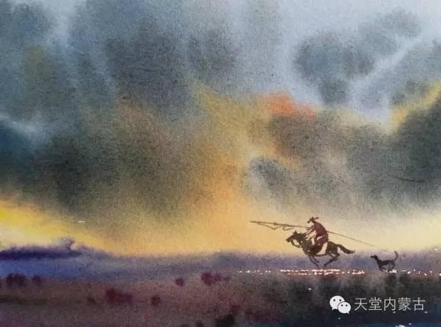 【美图】青年画家巴达日呼水彩作品欣赏 第5张