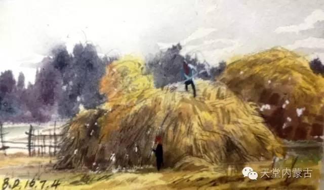 【美图】青年画家巴达日呼水彩作品欣赏 第11张
