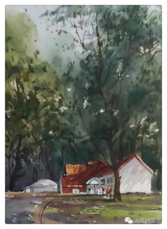 【美图】青年画家巴达日呼水彩作品欣赏 第13张