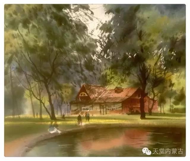 【美图】青年画家巴达日呼水彩作品欣赏 第12张