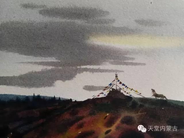 【美图】青年画家巴达日呼水彩作品欣赏 第9张