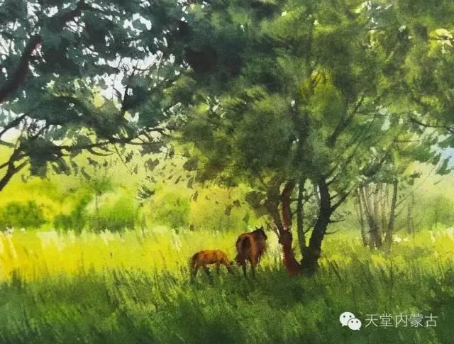 【美图】青年画家巴达日呼水彩作品欣赏 第18张