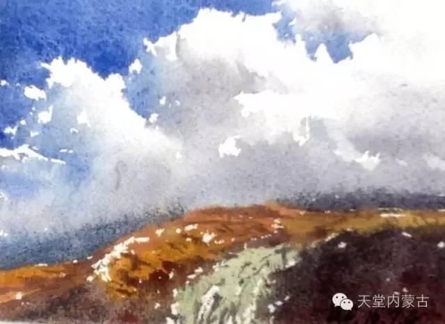 【美图】青年画家巴达日呼水彩作品欣赏 第15张