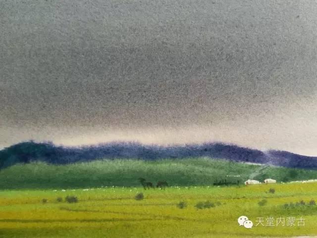 【美图】青年画家巴达日呼水彩作品欣赏 第14张