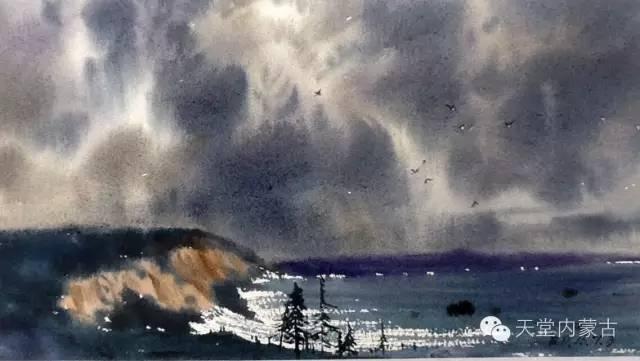 【美图】青年画家巴达日呼水彩作品欣赏 第22张