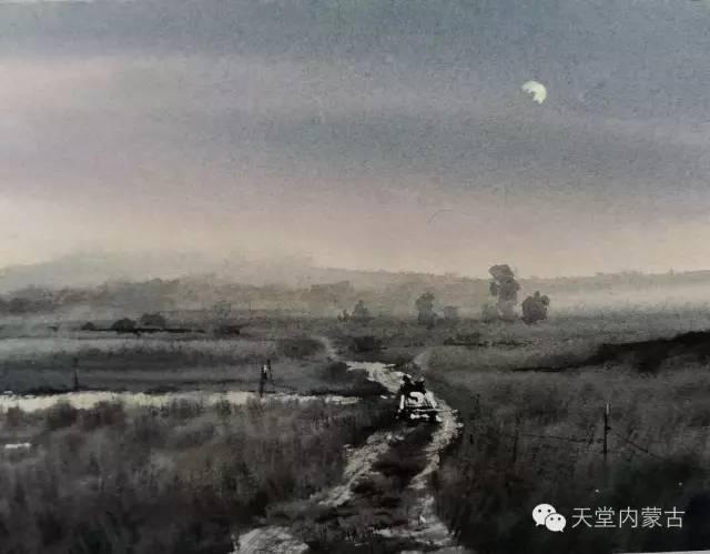 【美图】青年画家巴达日呼水彩作品欣赏 第25张