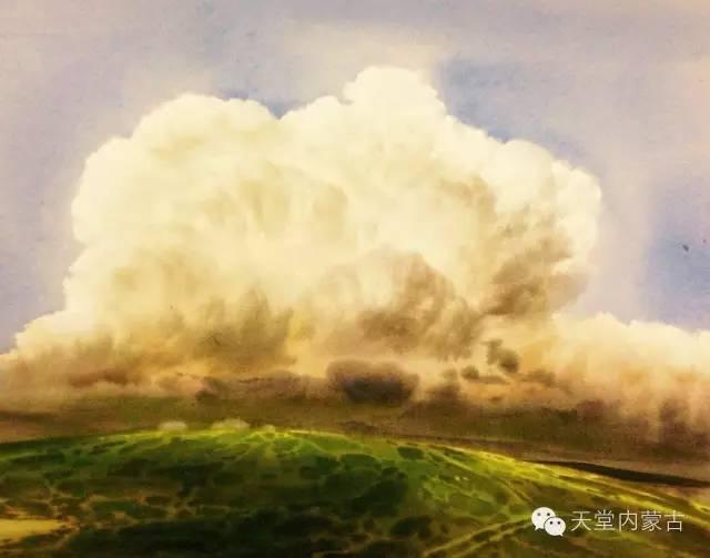 【美图】青年画家巴达日呼水彩作品欣赏 第26张