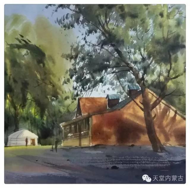 【美图】青年画家巴达日呼水彩作品欣赏 第29张