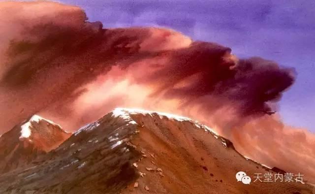 【美图】青年画家巴达日呼水彩作品欣赏 第28张