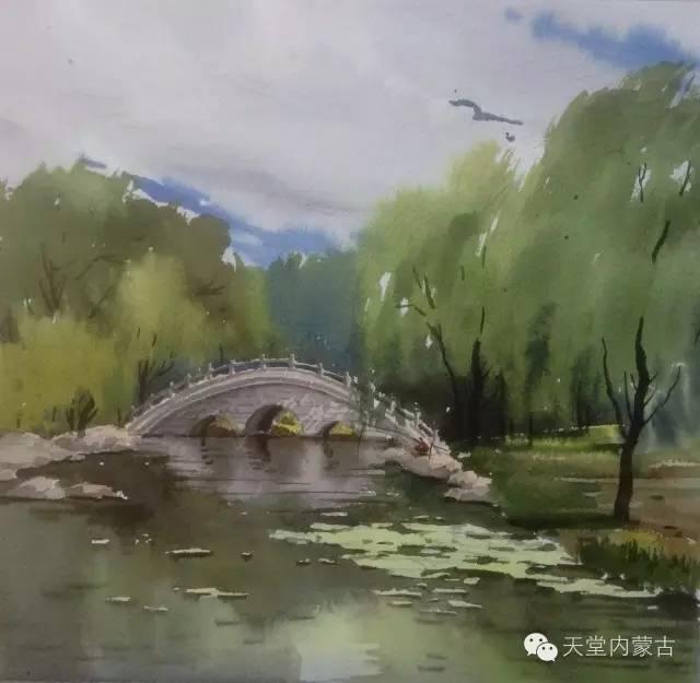 【美图】青年画家巴达日呼水彩作品欣赏 第30张