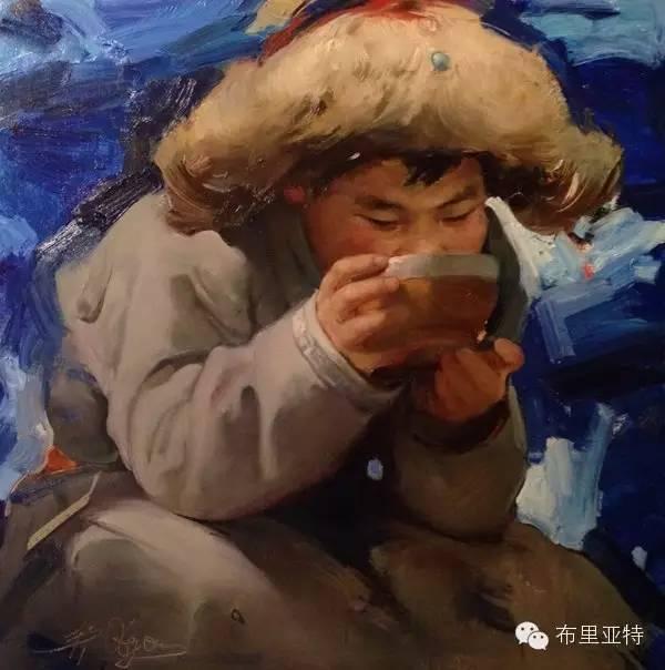 【ANU美图】青年蒙古画家敖特格·巴达玛油画作品分享 第4张