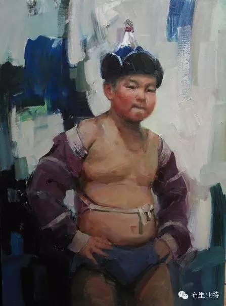 【ANU美图】青年蒙古画家敖特格·巴达玛油画作品分享 第6张