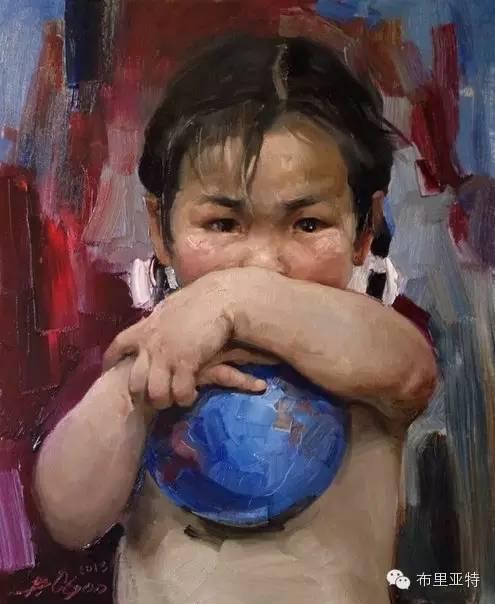 【ANU美图】青年蒙古画家敖特格·巴达玛油画作品分享 第3张