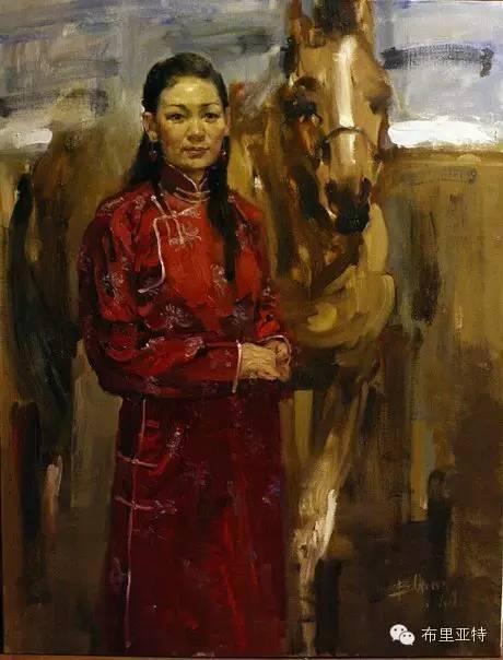 【ANU美图】青年蒙古画家敖特格·巴达玛油画作品分享 第7张