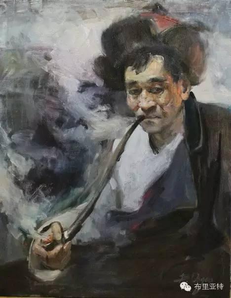 【ANU美图】青年蒙古画家敖特格·巴达玛油画作品分享 第9张